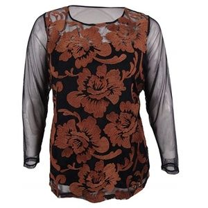 New INC Embroidered Blouse 1X